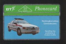 Phonecard Nottingham  Police Car telecard #018